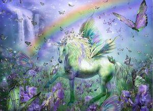 Diamond Painting - Unicorn Rainbow 30x40cm