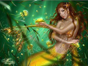 Diamond Painting - Zeemeermin Goud