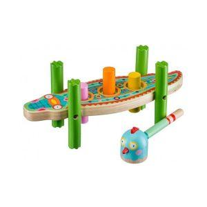 Djeco Dreumes - houten hamerspel Krokodil