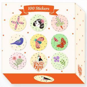 Djeco 100 stickertjes - Chichi