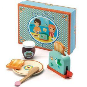 Djeco houten speelgoed - Ontbijtset Toast Aurora en Theodore