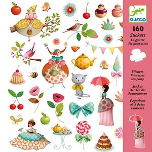 Djeco stickers - Prinsessen teaparty