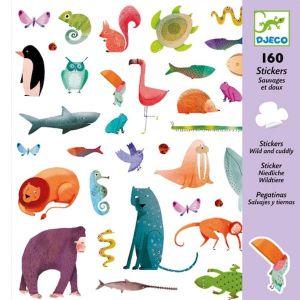 Djeco stickers - Dieren Wild en Schattig