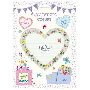 Djeco uitnodigingen - Hartjes