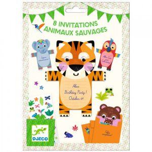 Djeco uitnodigingen - Jungle Dieren