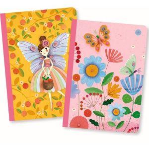 Djeco set 2 notitieboekjes - Rose