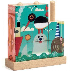 Djeco blokpuzzel - puzzle up sea