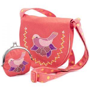 Djeco handtas en portemonnee - vogel