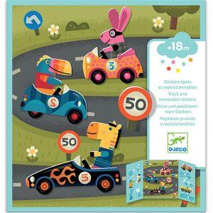 Djeco herplakbare stickers - auto