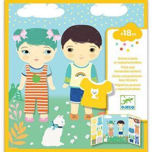 Djeco herplakbare stickers - kleding
