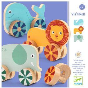 Djeco houten speelgoed - Dieren op wielen