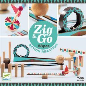 Djeco Zig & Go - Kettingreactie spel (28 st)