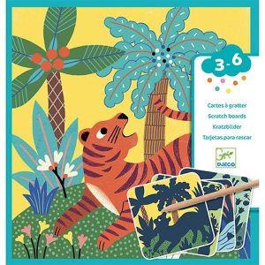 Djeco kraskaarten - Jungle Dieren