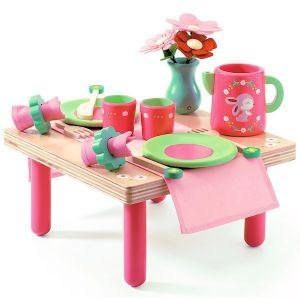 Djeco houten speelgoed Verjaardagsservies Lili Rose