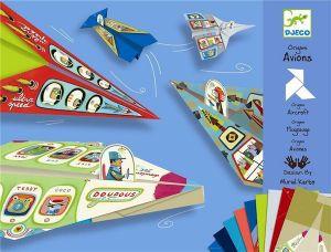 Djeco origami - Vliegtuigjes vouwen