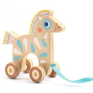 Djeco Baby Pull - trekdier Paard