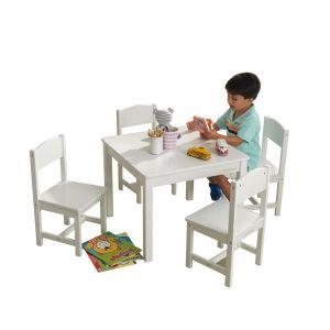 Kidkraft Houten tafel met 4 stoeltjes - Farmhouse