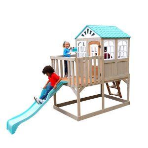 Kidkraft houten speelhuis met glijbaan - Highline Retrait