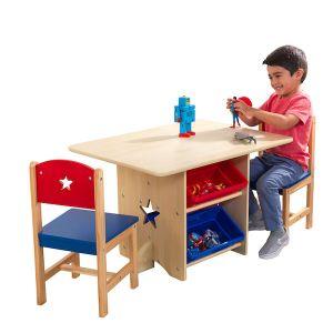 Kidkraft Houten tafel met 2 stoeltjes - Sterren
