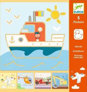 Djeco Sjablonen - Transport en co