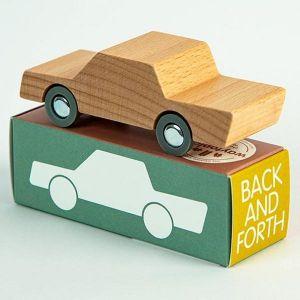 Waytoplay - houten auto heen-en-weer naturel